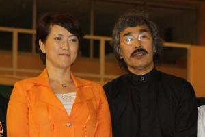 SO Yuuki en compagnie de AOSAKA Senseï lors du Taïkaï Européen 2011 à Monaco