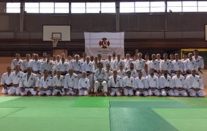 Photo de tous les participants autour de AOSAKA Senseï – © F. Juhel