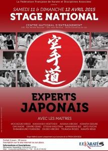 Stage national experts japonais zone sud, les 11 et 12 avril 2015