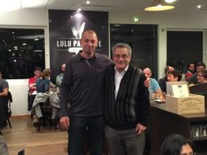 Didier Denmat (à gauche) et Michel Tesson (à droite), fêtant leurs anniversaires respectifs - © F. Juhel