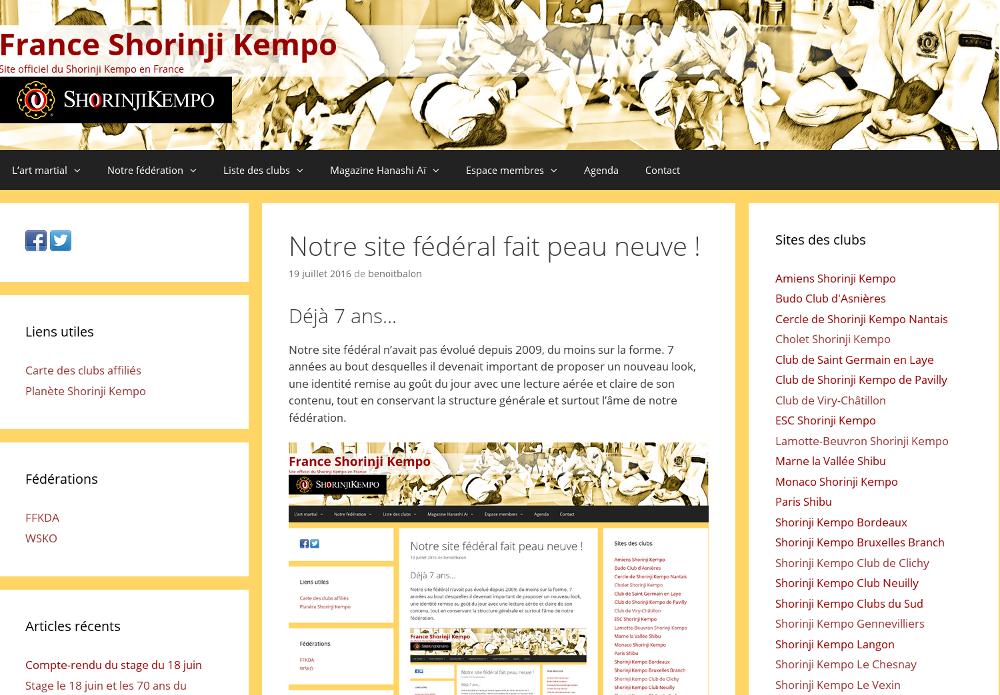 Nouveau look de notre site fédéral